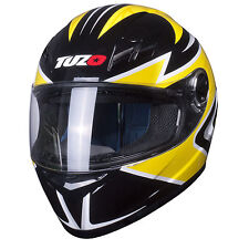 Tuzo Ghost Full Face Motorcycle Crash Helmet Yellow Large