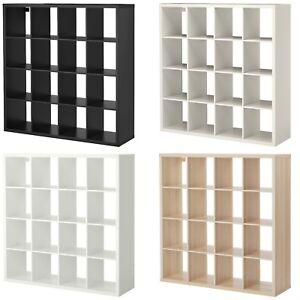 NEW IKEA KALLAX 4x4 SHELVING UNIT 16 SQUARE CUBES BOOKCASE EXPEDIT STORAGE