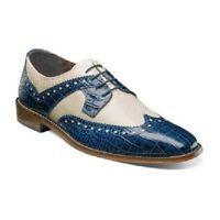Stacy Adams Men/'s Kemper Wingtip Oxford Shoes Blue Multi 25191-460