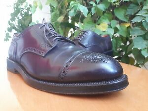 Alden 2145 Mens Burgundy Shell Cordovan Cap Toe Oxford Shoes Size US 9 CE