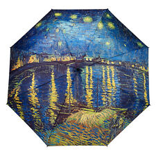 Galleria Auto Folding Umbrella - Van Gogh Over the Rhone