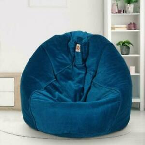 Luxuries Bean bag cover Velvet Chair sofa without Bean Blue Bean bag gift XXL