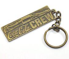 COCA COLA Crew ottone catena chiave Bottiglia vintage Coke PORTACHIAVI 1980