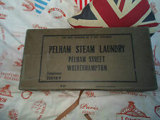 Vintage Laundry Shipping Box Industrial Decor~Pelham Steam Laundry Wolverhampton