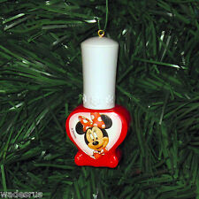 Minnie Mouse Red Nail Polish Bottle - Custom Christmas Tree Holiday Ornament