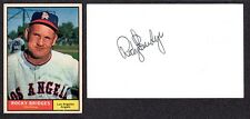 Rocky Bridges (Debut 1951) BKLYN  REDS WAS  DET STL AUTOGRAPH AUTO 3x5 INDEX COA