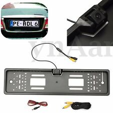 170° European Car License Plate Frame Rear View Night Vision Backup Park Camera