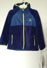 NWT Rugged Bear size 7 8 boys Reversible Blue Yellow Jacket Sherpa Fleece Coat