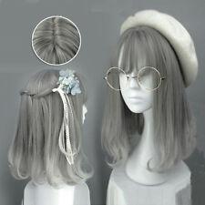 Women's Wig Gray Mixed Lolita Party Synthetic Hair Cosplay Harajuku Anime Wigs