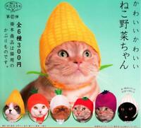 KITAN CLUB Vegetable Cat Cap Completed Set 6pcs  Kawaii Pet Hat