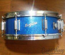 """Rogers 14x5""""Powertone Cleveland Blue Sparkle Jasper Maple Snare Drum Vintage 60s"""