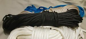 3/16 x 100 ft. Double Braid Polyester.Rope. Black.