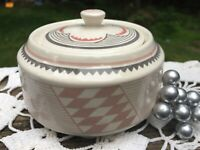 Pipestone ANCIENT  MIMBRENO Replica Santa Fe Dining Car Sugar Bowl
