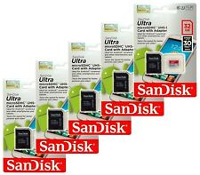 SanDisk Ultra Class10 32GB microSD micro SDHC UHS-I U1 Flash Memory Car Lot of 5