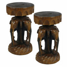 Solid Wood Less than 30 cm Width Round Side & End Tables