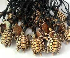 10 pcs new Tibetan trendy tortoise resin vintage men's hemp rope necklace