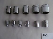 "Snap On Tools 3/8"" Drive 11 Pc SAE Shallow 6 Pt Socket Set 1/4"" -7/8""  211FSY"