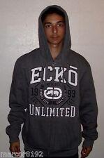 ECKO UNLTD Men's Hoodie Zipper Sweatshirt Dark Gray Medium New W/ Tags