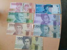 Indonesien  Aktuelle Ausgabe 7 Geldscheine 1000- 100000 IDR Rupiah Banknoten Lot