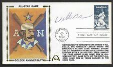 Willie McGee Signed 1983 All Star Gateway Stamp Envelope Chicago FDI Postmark