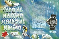 X1660 Orologio CASIO Marine Gear - Pubblicità del 1994 - Vintage advertising