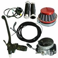 Black Muffler Exhaust/&Handlebar Grip Set Fits 66//80cc Engine Motorized Bike