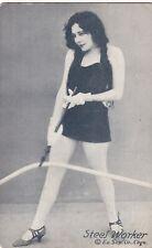 "STEEL WORKER ""working girl series ""-1920s PIN-UP/CHEESECAKE arcade/exhibIit card"
