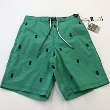 06ae083c60 Daniel Cremieux Mens Swim Trunks Sea Green Pineapple Embroidered Small S NWT