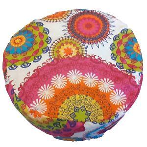 Sitzkissen Meditationskissen Yogakissen Rund Baumwoll-Canvas-Stoff Kreise