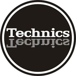 2x Magma Mirror Logo Technics Turntable Slipmats / Slip Mats/ Mat / Slipmat Pair