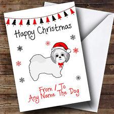 Shitzu de ou pour le chien animaux personnalisé carte de noël
