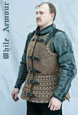 Medieval Larp Warrior steel Brigandine Leather Covered Cuirass Armor Breastplate