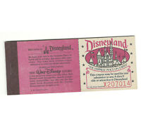 Disneyland Authentic Vintage Unused Any 5 Rides Ticket Book Complete Sept 1980