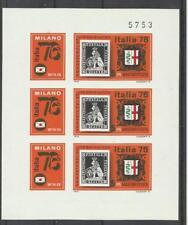 Hongrie Bloc Non Dentelé **MNH YT 2517 x 3 expo Italia 76  Magyar Ungary