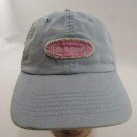 Life is Good Hat Adjustable Strapback Baseball Cap Baby Blue Embroidered Pink