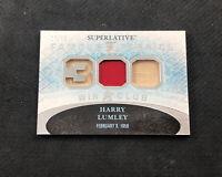 2015-16 ITG SUPERLATIVE HARRY LUMLEY FAMOUS FABRICS 300 WIN JERSEY #ed 7/15