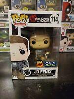 Funko Pop! Gears of War JD Fenix #114 Best Buy GITD Swarm Gunk WITH PROTECTOR!