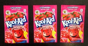 Kool Aid Strawberry Unsweetened Drink Mix x Qty: 3