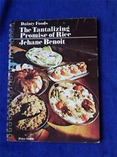 DAINTY FOODS RECIPE COOKBOOK THE TANTALIZING PROMISE OF RICE JEHANE BENOIT