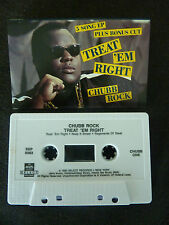 CHUBB ROCK TREAT EM RIGHT ULTRA RARE CASSETTE TAPE!