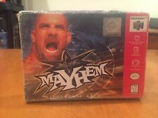 WCW Mayhem Nintendo 64 N64 Video Game 1999 NIB Electronic Arts NIP Wrestling