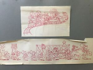 🔥 RARE Antique Mid Century Original Disney Animation Art, Mickey  - Carl Barks