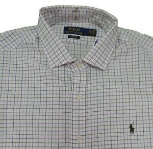 Polo Ralph Lauren Men's Classic Fit Plaid Checkered Button Down Dress Shirt S
