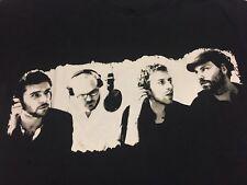 Coldplay Viva La Vida 2-sided Black T-shirt Martin Scientist Paradise Yellow