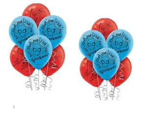 "12! SPIDERMAN Webs Latex 12"" Balloons Boy Birthday Decoration Party Supply Red B"