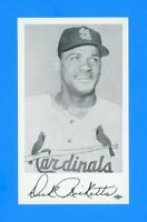1959  ST LOUIS CARDINALS TEAM ISSUED POST CARD DICK RICKETTS  NM-MT