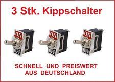 3x Kippschalter 12V 24V Auto 230V 220V Volt 10 A Amper  KFZ LKW Boot Schalter