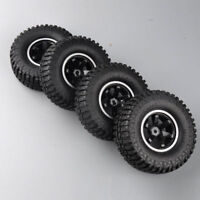 "4X Rubber Tires Wheel Rock Crawler 1.9""Beadlock 12mm Hex For 1/10 HSP HPI RC Car"