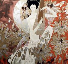 """Huang Guanyu """"Melody in White"""" Hand Signed Serigraph Artwork, China, Make Offer"""