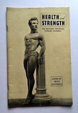 1950 British Body Builder Muscle Magazine Health